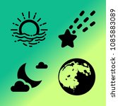 vector icon set about weather... | Shutterstock .eps vector #1085883089