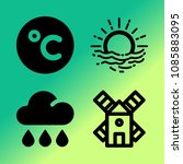 vector icon set about weather... | Shutterstock .eps vector #1085883095
