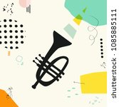 music colorful background with... | Shutterstock .eps vector #1085885111