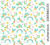 vector seamless pattern with... | Shutterstock .eps vector #1085886155