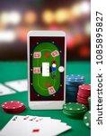 poker table on smartphone... | Shutterstock . vector #1085895827