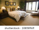modern luxury home bedroom. | Shutterstock . vector #10858969