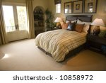 luxury home bedroom with... | Shutterstock . vector #10858972