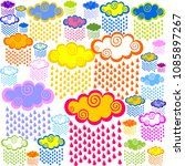 cute cloud seamless pattern... | Shutterstock .eps vector #1085897267
