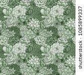 vector succulents seamless... | Shutterstock .eps vector #1085899337