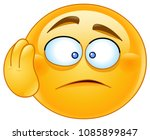 dismay shocked worried emoticon ... | Shutterstock .eps vector #1085899847