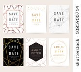 luxury wedding invitation cards ... | Shutterstock .eps vector #1085900714