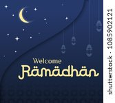 ramadan greeting background ... | Shutterstock .eps vector #1085902121