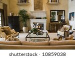 luxury home living room with... | Shutterstock . vector #10859038