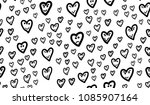 abstract hand drawn fun hearts... | Shutterstock .eps vector #1085907164
