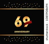 69 gold anniversary celebration ... | Shutterstock .eps vector #1085908694