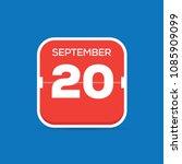 september 20 calendar flat icon