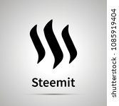 steemit cryptocurrency simple... | Shutterstock .eps vector #1085919404