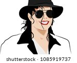 Michael Jackson Sketch  Vector...