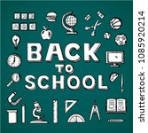 back to school text and icon   Shutterstock .eps vector #1085920214