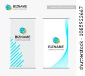 company ads banner design with... | Shutterstock .eps vector #1085923667