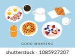 enjoy your breakfast   | Shutterstock .eps vector #1085927207