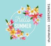 summertime floral poster.... | Shutterstock .eps vector #1085929841