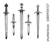 Hand Drawing Medieval Swords