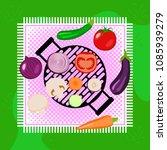 vegetables picnic in the open... | Shutterstock .eps vector #1085939279