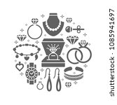 jewelry shop  diamond...   Shutterstock .eps vector #1085941697