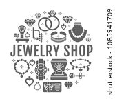 jewelry shop  diamond... | Shutterstock .eps vector #1085941709