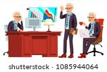 old office worker vector. face... | Shutterstock .eps vector #1085944064