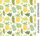 vector pineapple  tropical... | Shutterstock .eps vector #1085946485