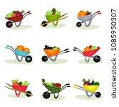 flat vector set of garden...   Shutterstock .eps vector #1085950307