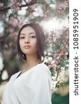 gorgeous asian woman with...   Shutterstock . vector #1085951909