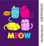 cute abstract illustration with ... | Shutterstock .eps vector #1085953025