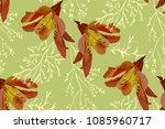 floral seamless pattern with... | Shutterstock .eps vector #1085960717
