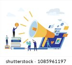 content strategy marketing... | Shutterstock .eps vector #1085961197
