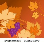 vine of grapes on a brown... | Shutterstock .eps vector #108596399