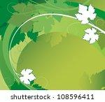 bright green vine of grapes on... | Shutterstock .eps vector #108596411