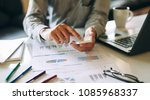 businessman working on project... | Shutterstock . vector #1085968337