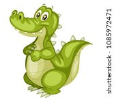 vector illustration of a happy... | Shutterstock .eps vector #1085972471