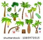 tropical palm trees. brazil... | Shutterstock .eps vector #1085973515
