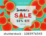 summer sale promotion banner...   Shutterstock .eps vector #1085976545