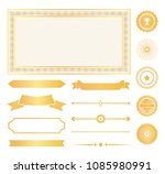 decorative frames  gold water... | Shutterstock .eps vector #1085980991
