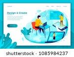 vector concept illustration   ... | Shutterstock .eps vector #1085984237