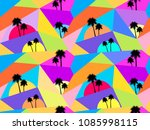 palm trees seamless pattern.... | Shutterstock .eps vector #1085998115