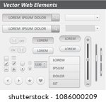 pack of flat design ui kit... | Shutterstock .eps vector #1086000209