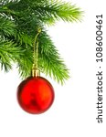 Christmas Concept With Baubles...