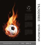 realistic vector soccer ball on ... | Shutterstock .eps vector #1086006761