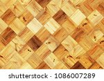 wood squares wall as a vintage... | Shutterstock . vector #1086007289