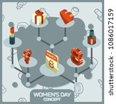 womens day color concept... | Shutterstock .eps vector #1086017159