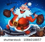 marry christmas and happy new... | Shutterstock . vector #1086018857