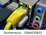 various networking ports for... | Shutterstock . vector #1086020831