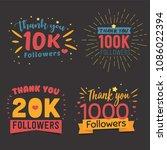 thank you followers vector... | Shutterstock .eps vector #1086022394